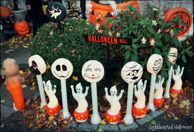 turning random christmas molds into whimsical halloween decorations