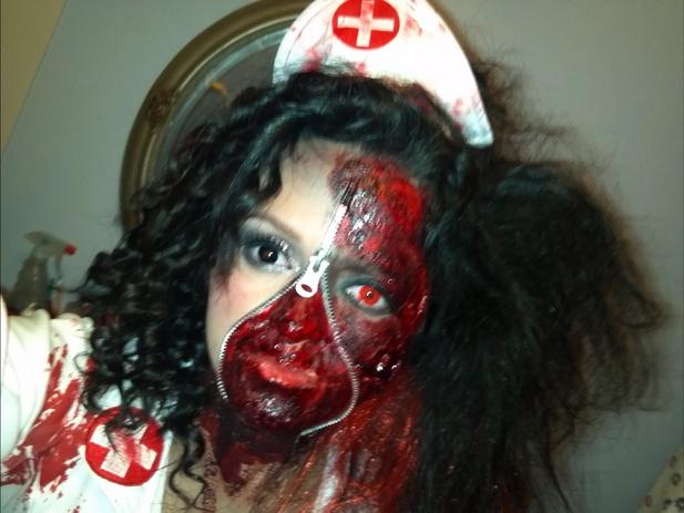 Insane asylum nurse costume