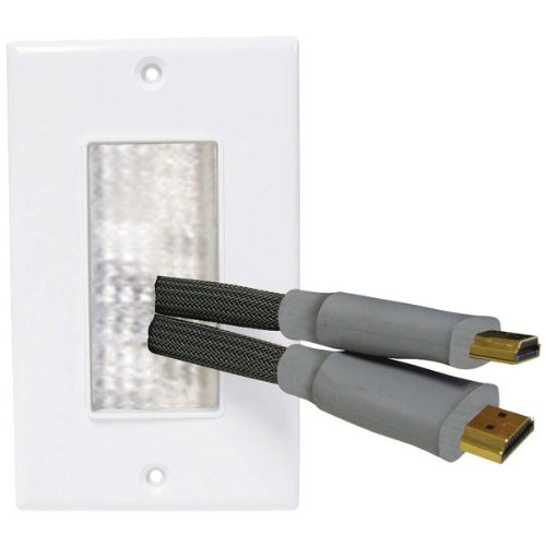 Electronic Software Wall Pass Through For Electrical And Audio Cables