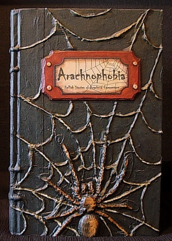 Spooky Altered Books - How To.-arachnophobia-finished-product.jpg