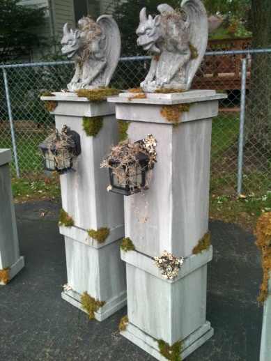 Static New Cemetery Entrance Columns And Posts