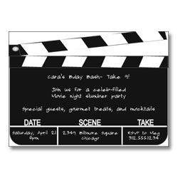 invitations for dead hollywood themed party, party invitations