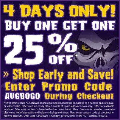Spirit halloween printable coupon 50 off