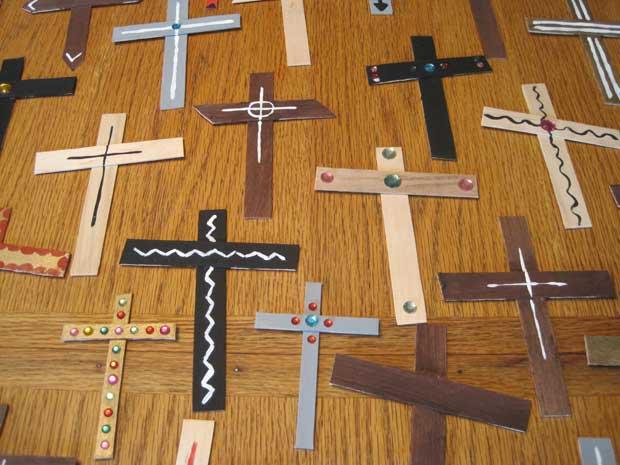 Easy DIY - Wall of Crosses