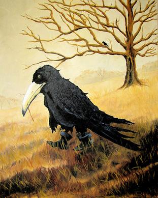 crow artjpg - Halloween Crow Decorations
