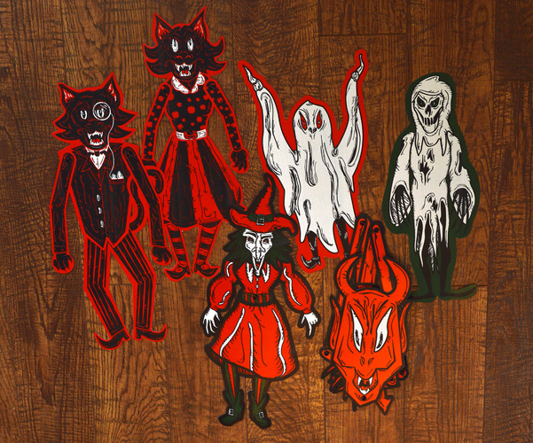 Vintage-Inspired Halloween Decorations by Witch House Design on 1950's house designs, winter house designs, horror house designs, bunny house designs, new dog house designs, pumpkins designs, doodle house designs, leprechaun house designs, birdhouse house designs, faerie house designs, 1990s house designs, soapbox house designs, way cool house designs, night walker designs, 1960's house designs, wild west house designs, thomas kinkade house designs, alien house designs, house house designs, cartoon house designs,