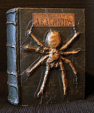 Spooky Altered Books - How To.-encyclopedia-arachnids-finsihed-product.jpg