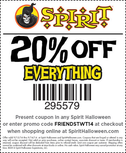 Friends And Family Coupon for Spirit Halloween THIS WEEKEND