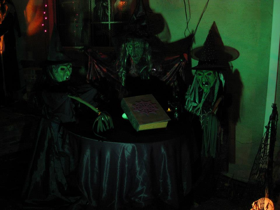 Halloween 2012 Three Witches In Green Light