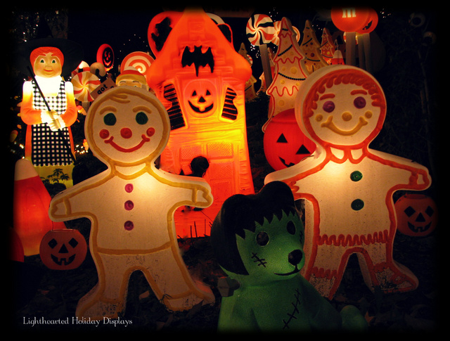 Turning random Christmas blowmolds into whimsical Halloween decorations.-halloween-candyland-12-.jpg
