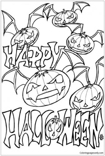 Free Printable Halloween Coloring Pages Happy 4 Coloringpagesonly