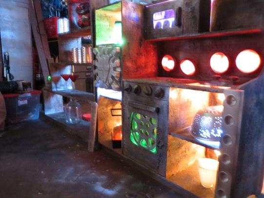 Kitchen Lab Kids static: frankenstein's lab out of a kid's kitchen unit using