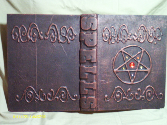 Handmade Witches spell books and Wizards wand box with pair