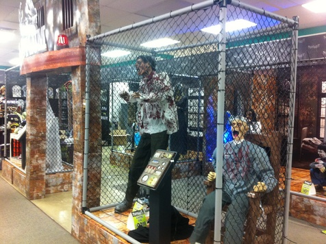 other black plastic fence like spirit s asylum display