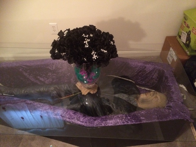 Coffin Coffee Table With Dead Guy in Cheverly MD 375