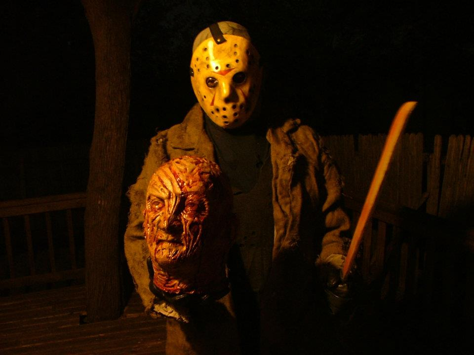 a picture and a youtube clip of me in my jason voorhees mask and