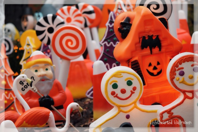 Turning random Christmas blowmolds into whimsical Halloween decorations.-lh-colors.jpg