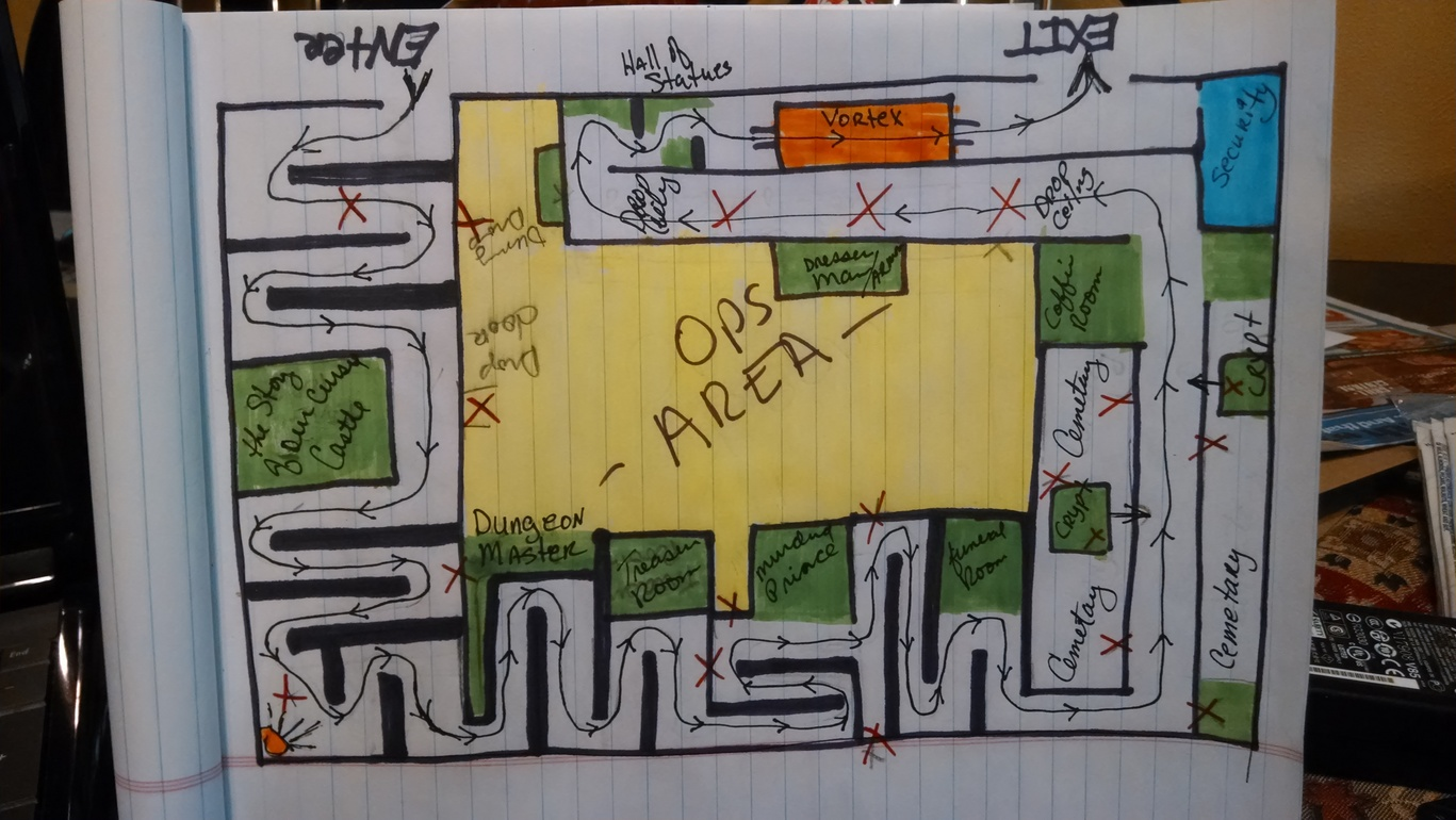 Help Does anyone have a floorplan layout of a haunted housemaze – Haunted House Floor Plans
