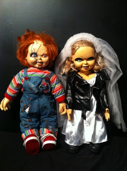 selling life size chucky and tiffany dolls