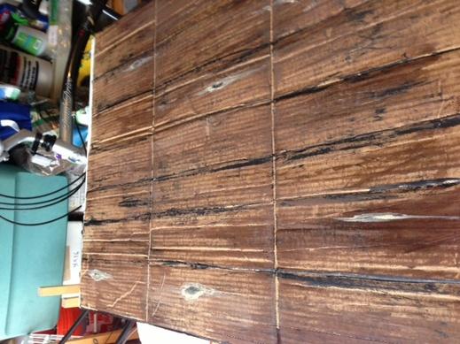 how to make cardboard look like wood 1