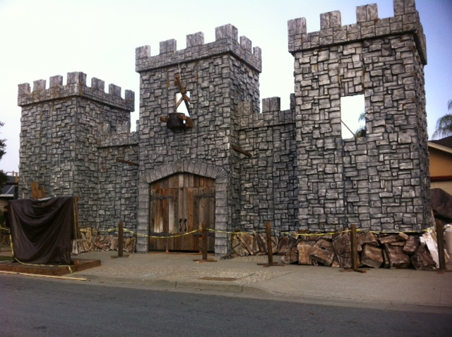 Full MEDIEVALCastle Facade for Home Haunted House  photo JPG. Static  Full MEDIEVALCastle Facade for Home Haunted House