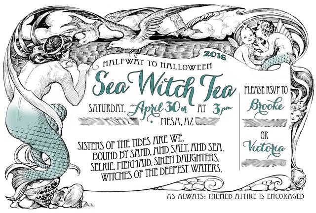 Halfway To Halloween Sea Witch Tea 2016