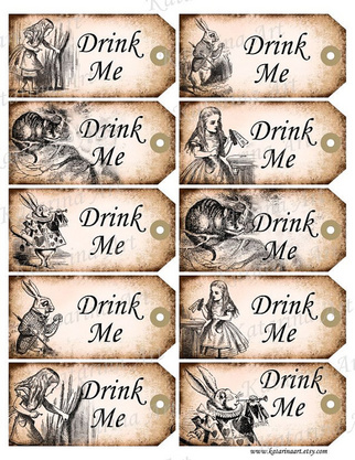 Alice In Wonderland Drink Me Tags