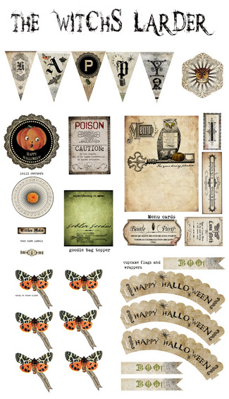 Apothecary Jar Labels, Tags & Ideas-witchs-larder.jpg