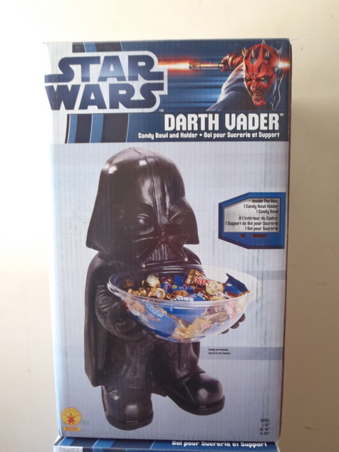 "20/""H Disney Star Wars Darth Vader Candy Bowl Holder Dish Halloween Decoration"