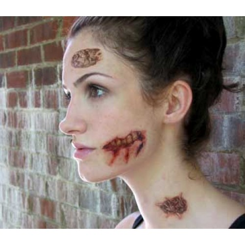 Zombie and Terminator Makeup Temporary Tattoos - Discount for ...