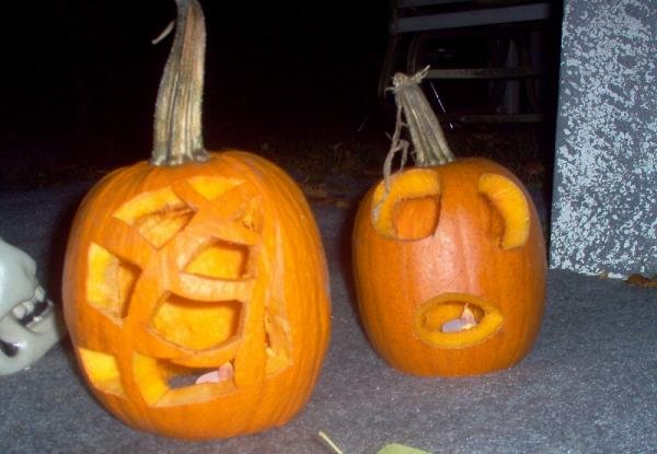 Brian and I carved one each.