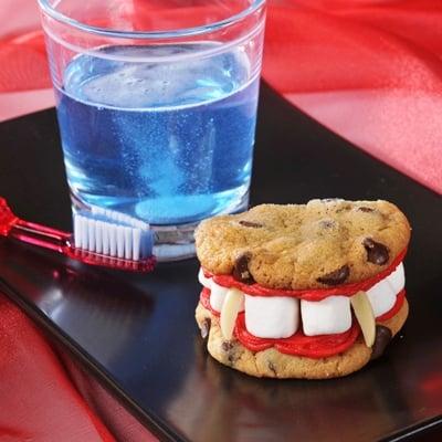 Dracula Denture Cookies Ingredients: 1 package (18 25 ounces