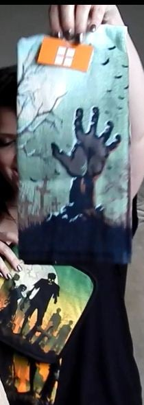 How perfect! The hand in this zombie towel is very similar to my tattoo!!