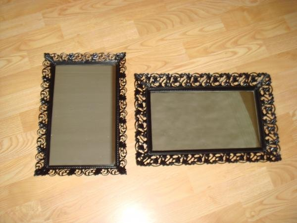 Old Perfume trays that I painted black and will use for dessert trays