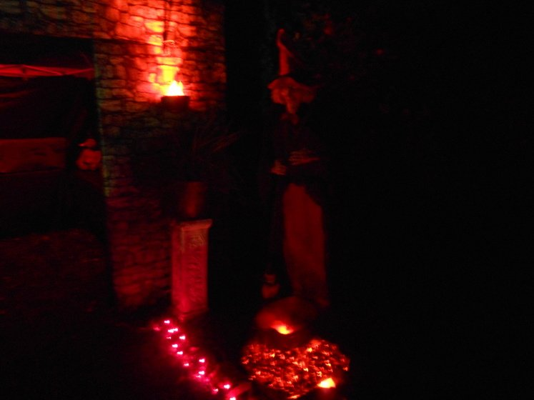 Witch with glowing coals that I made.