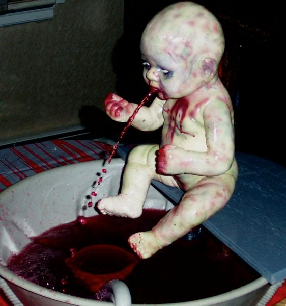 Zombie Baby punch fountain