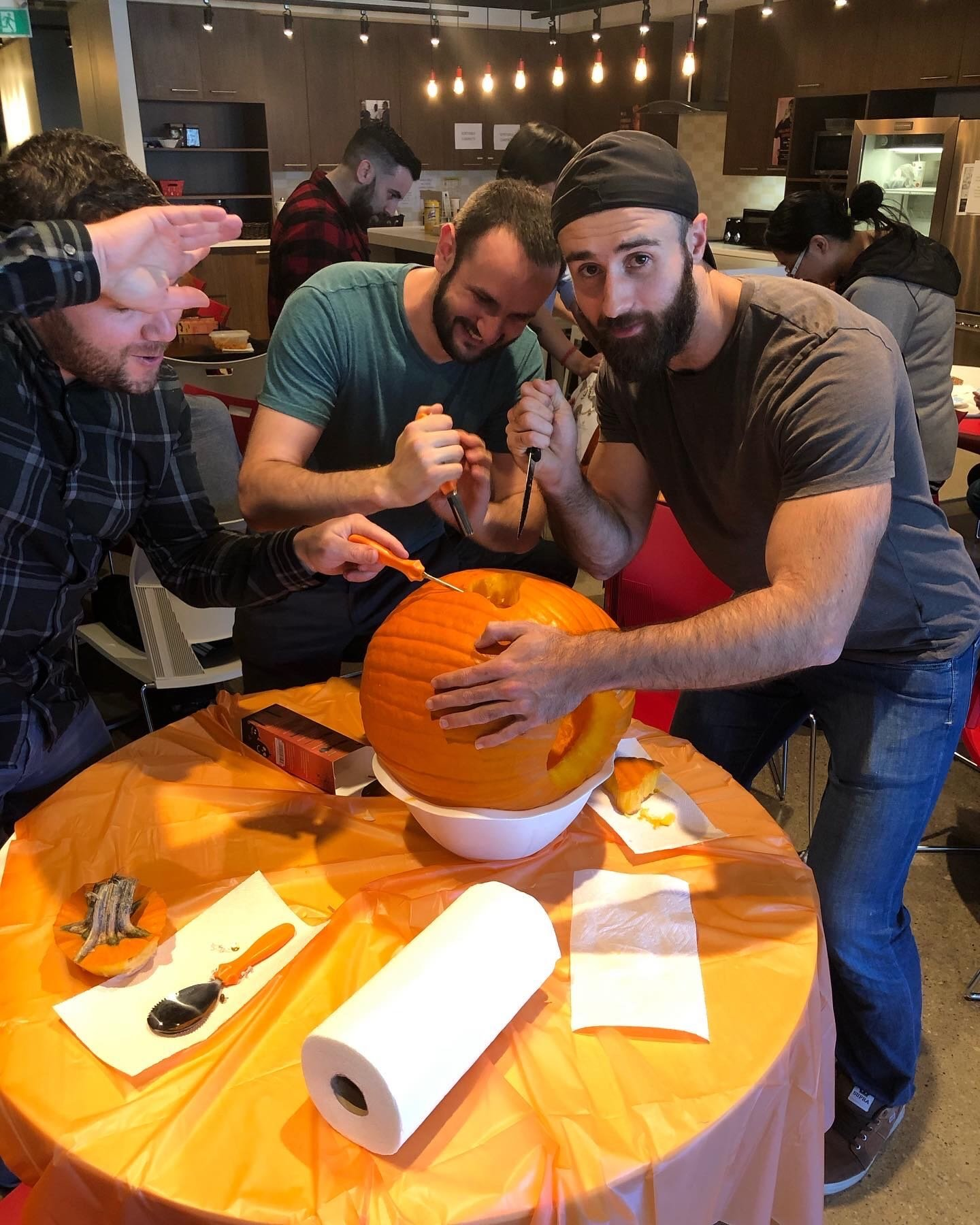 Showcase cover image for Verticalscope hard at work carving spooky pumpkins!