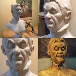 Haunted Mansion Cousin Maude Resin Statue