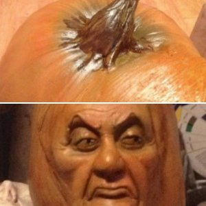Haunted Mansion Cousin Maude pumpkin