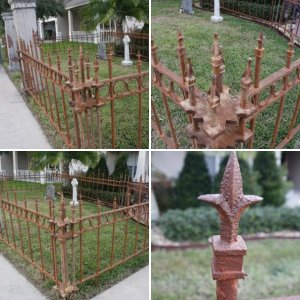 New Cemetery Fence
