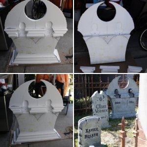 Double Vampire Tombstone