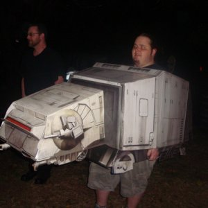 My friend Jon, as the famous Star Wars AT-AT !!!!