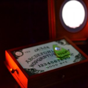 Haunted Ouija Board with animated Madame Leota picture frame.
