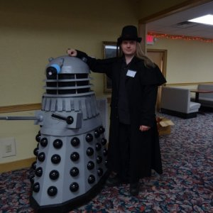 Me at HallowCon with a Dalek.