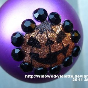 Another Customized Bauble. A sticker and some rhinestones.