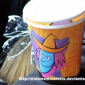 2 Cartoon Witch Cups