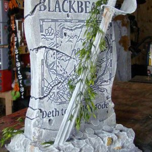 Blackbeard's tombstone