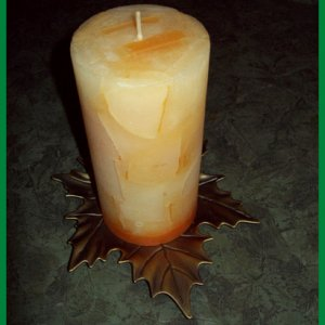 Fall themed candle.
