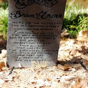 One of Our Favorite Tombstones - Each had their own personalized death poem