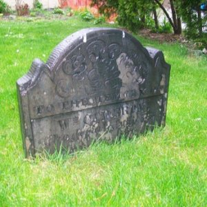 What's left of one of the gravestones.